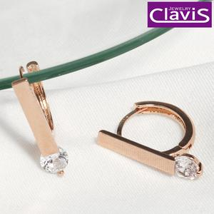 Clavis [클라비스] 14k 클래식 스틱 링 원터치 귀걸이 CL14kp_EGP211