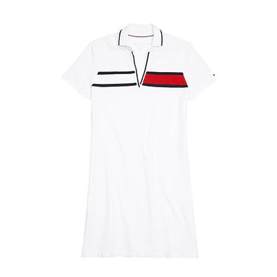 타미힐피거 여성 카라 반팔원피스 ESSENTIAL FLAG POLO DRESS