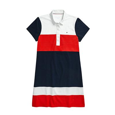 타미힐피거 여성 카라 반팔원피스 ADAPTIVE POLO DRESS