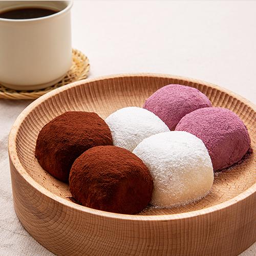 쿠캣마켓 찹쌀떡3종(우유/고구마/초코) 대표이미지 섬네일
