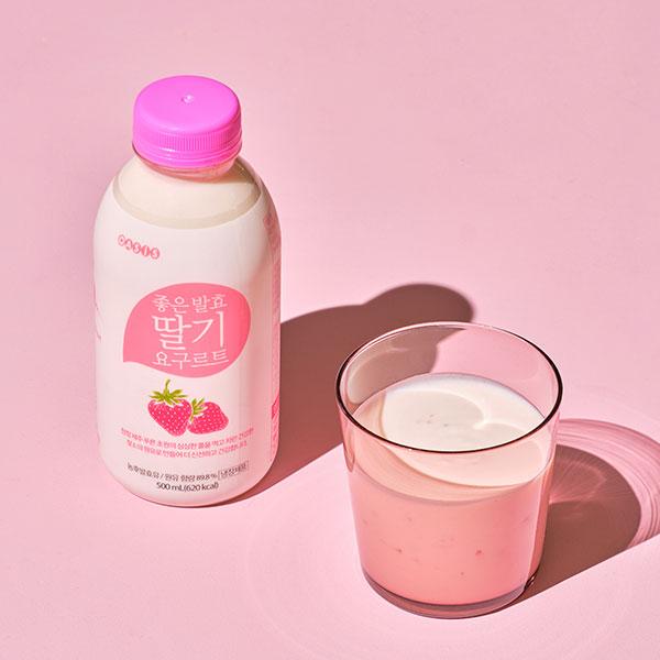좋은발효 딸기요구르트 500ml