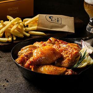 맥주에 빠진 닭(순살500g+감자튀김200g) 스파이시 대표이미지 섬네일