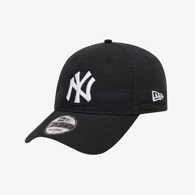 [뉴에라] 언스트럭쳐 MLB 뉴욕 양키스 베이직 화이트 온 블랙 볼캡