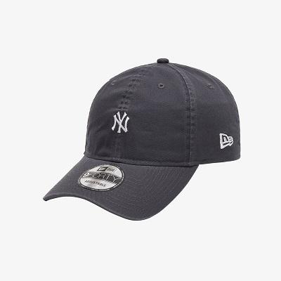 [뉴에라] 언스트럭쳐 MLB 워시드 미니 로고 뉴욕 양키스 볼캡 다크 그레이