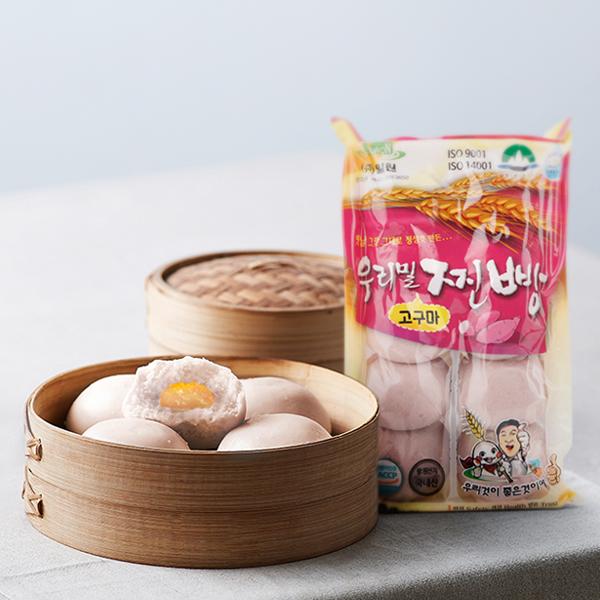 우리밀 고구마 찐빵 (10입/500g) 대표이미지 섬네일