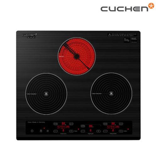 [쿠첸] 3구 하이브리드 전기레인지 CIR-S3210FLBS