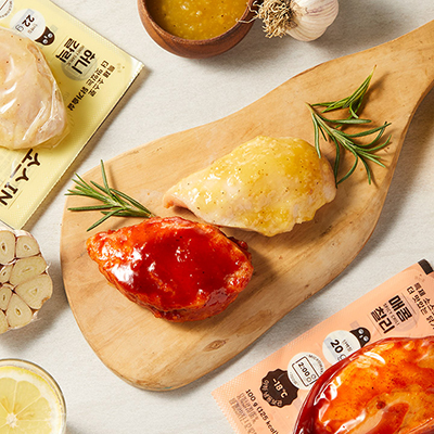 띵커바디 소스 IN 닭가슴살 2종 (허니갈릭/매콤칠리) 대표이미지 섬네일