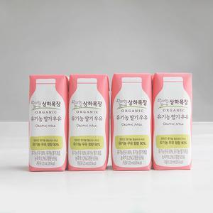 상하목장 유기농 딸기우유 (125ml×4) 대표이미지 섬네일