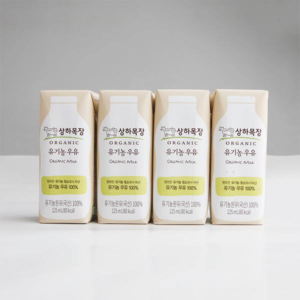 [유기농] 상하목장 유기농우유 (125ml×4) 대표이미지 섬네일