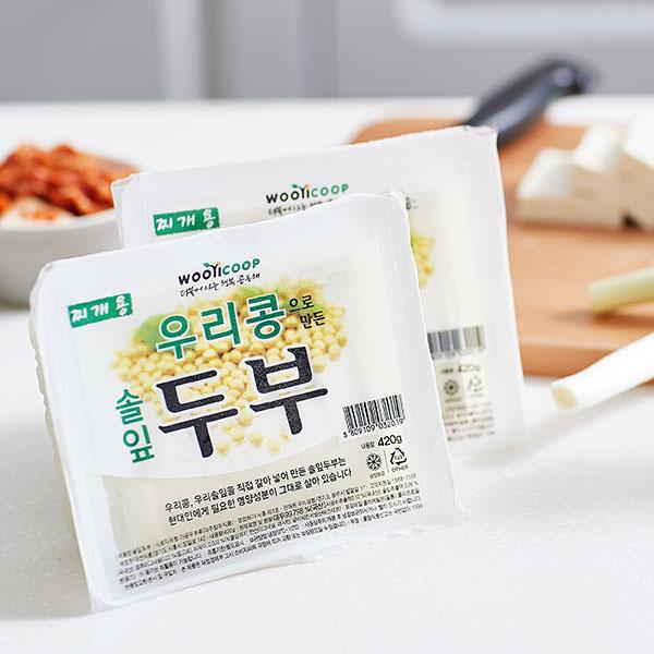 우리콩 솔잎두부 (찌개용 420g) 대표이미지 섬네일