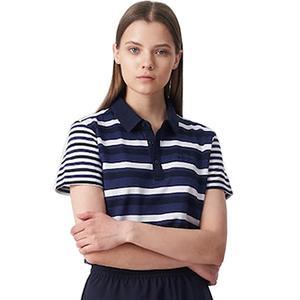 [빈폴스포츠] 네이비 여성 COOLHAN 한지 스트라이프 티셔츠(BO9442C04R) 대표이미지 섬네일