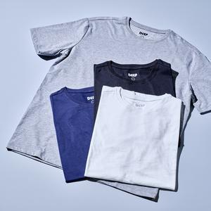 [품질보장]리사이클폴리 반팔 티셔츠 4장 SET (블랙/네이비/화이트/그레이) 대표이미지 섬네일