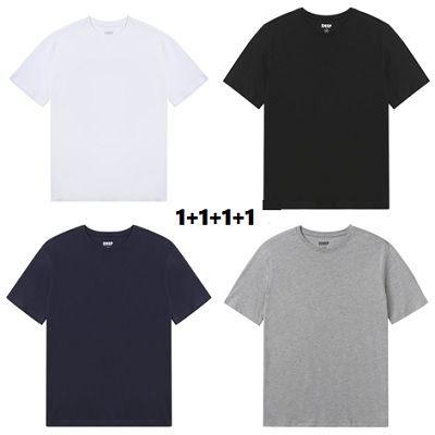 리사이클폴리 반팔 티셔츠 4장 SET (블랙/네이비/화이트/그레이) 대표이미지 섬네일