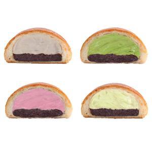 설렘제빵 아이스 단팥빵 1+1+1+1 (바닐라/밀크티/그린티/딸기) 대표이미지 섬네일