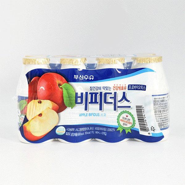 부산우유 비피더스 140ml x 8입 [사과/포도] 유산균 HACCP 인증  대표이미지 섬네일