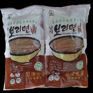 국산늘보리로 만든 납작보리면(칼국수/스파게티/소바용) 500g(3~4인용) 대표이미지 섬네일