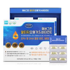 [에버그린] 알티지 오메가3 & 비타민E 1,006mg x 60캡슐 대표이미지 섬네일