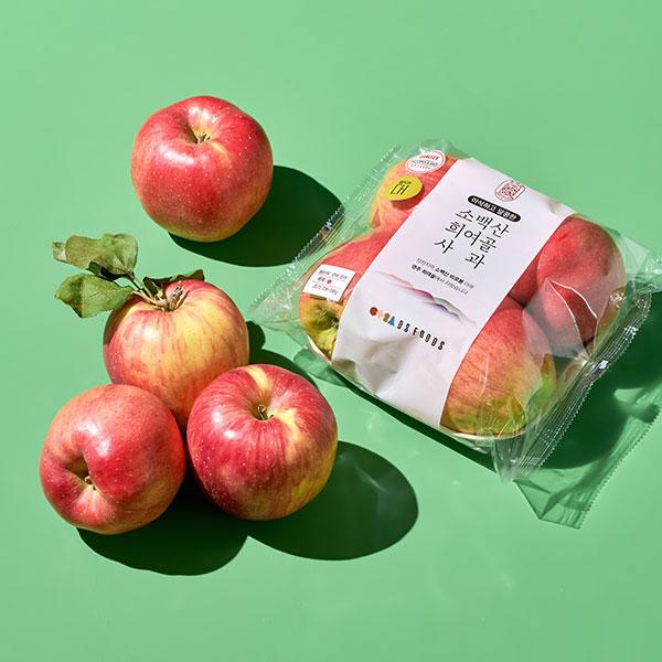 [소백산희여골] 햇 사과 (4입/1kg내외) 대표이미지 섬네일