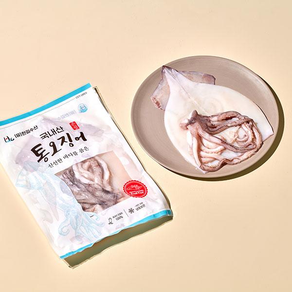[입점특가]국내산 손질 통오징어(1미/250g) 대표이미지 섬네일