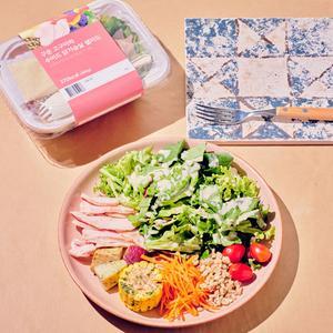 구운고구마와 수비드닭가슴살 샐러드(300g/370kcal)