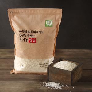 [만석] 유기농 백미(2020년산 | 4kg )