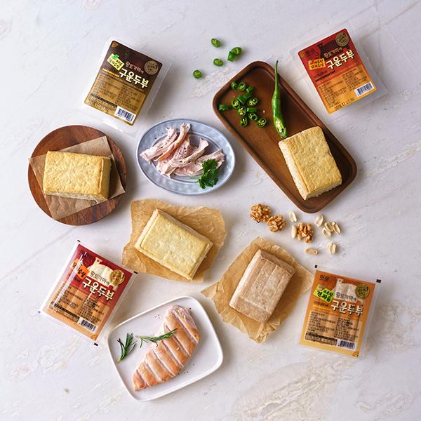 황토가마에 구운두부 150g/1개(닭가슴살/저염/매콤/견과) 대표이미지 섬네일