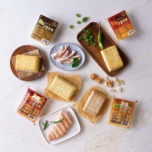 황토가마에 구운두부 150g/1개(닭가슴살/저염/매콤/견과)