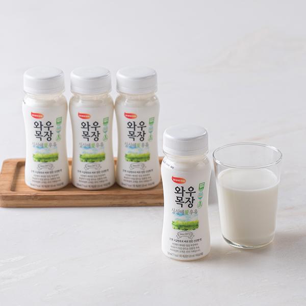 무항생제 우유 (120ml x 3입)와우목장 대표이미지 섬네일