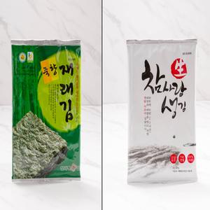 참사랑맛김세트(죽향재래김8봉+참사랑생김8봉) 대표이미지 섬네일