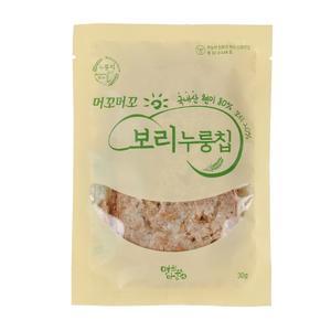 (당일출고) 무농약 친환경 머꼬머꼬 유아간식 보리누룽칩 30g 1봉 대표이미지 섬네일