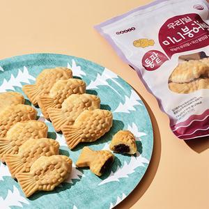 (대용량)우리밀 국산팥 미니붕어빵 500g(50g * 10개입)