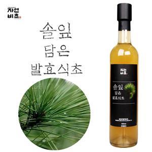 [자연비초] 솔잎 담은 발효식초 500ml 무설탕 전통발효 대표이미지 섬네일