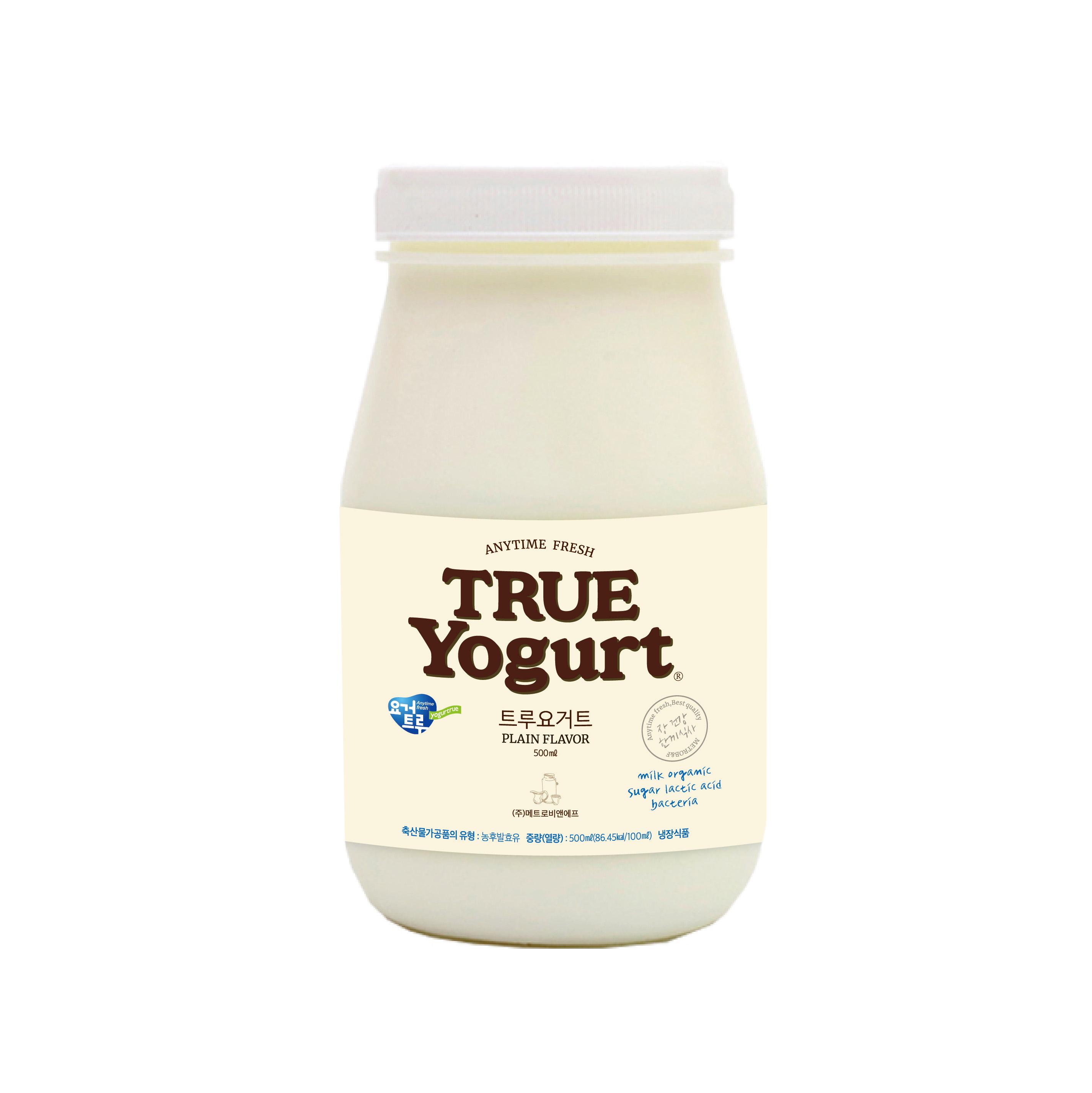 [요거트루] [5개 묶음판매상품] 트루요거트 500g 진한 요거트의 기분좋은 맛 대표이미지 섬네일