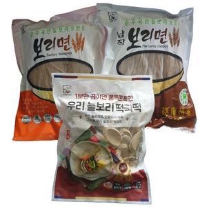 국산늘보리로 만든 보리3종 셋트(보리국수/칼국수/떡국떡) 대표이미지 섬네일