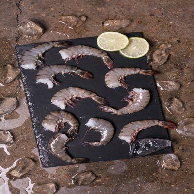 VIVA 프리미엄 홍다리얼룩 두절 새우(블랙타이거새우) 특대사이즈 1.8kg 50미 대표이미지 섬네일